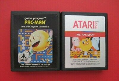 Ms. Pac-Man Pac-Man Atari 2600 Games *Cleaned & Tested* Pacman