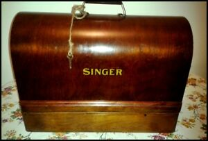 Antique Singer 99-13 Sewing Machine with Accessories