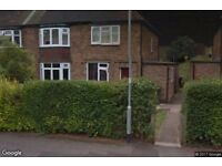 2 bed first floor maisonette Carlton. With front and back garden