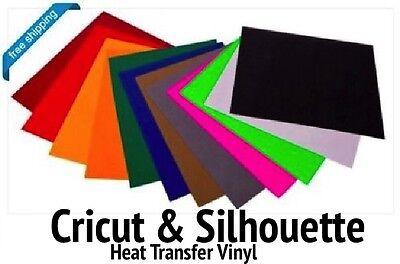 Cricut Silhouette Heat Transfer Vinyl 12-color Starter Bundle