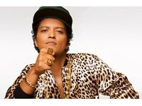 2 SEATED BRUNO MARS TICKETS 18 April, LONDON, O2