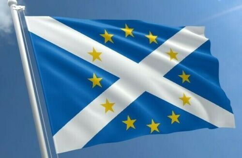 Scottish flag Independence Re-Join the EU St Andrews flags 150cm x 90cm 5