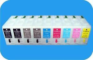 Epson Stylus Pro 3800 / 3880 Refillable Cartridges, Pigment ink