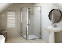 Shower enclosure 760x760 with pivot door and side panel