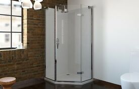 Pentagon shower enclosure 900 x 600