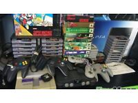 I am looking to buy all your gaming related consoles games xbox playstation nintendo sega