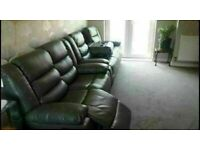😎💥CLOSEOUT SALE CHELSEA BONDED LEATHER RECLINERS WITH CUP HOLDER 3+2 S CORNER CHEAP BARGAIN