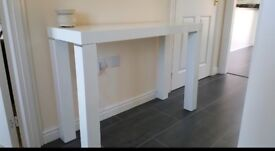 Harvey's White console table