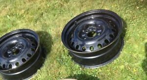 Black 17 inch rims set of 4 For Sale $75.00