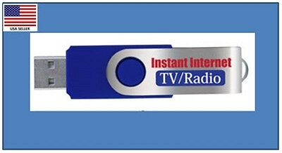 New Instant Internet TV & Radio USB Stick for Laptops & PC's - $$ Great Value $$