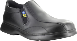 MELLOW WALK Mens Steel Toe Safety Slip On Shoes