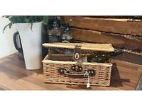 Wicker picnic/wine basket