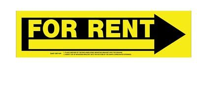 Hillman 6.9-in X 24-in For Rent Sign Signs Outdoor Plastic Real Estate New House