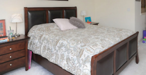 Queen-size bed with Headboard