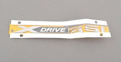 "BMW F25 X3 E70 X5 Genuine Door Side Emblem ""xDrive35i"" Lettering Decal Badge NEW"