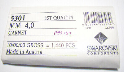 Garnet Swarovski Crystal Bicone Bead (Genuine Swarovski Crystal Bicone Bead 5301 GARNET 4mm Factory Pack  )
