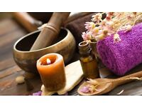 4-hand, warm herbal oil, full body relaxation massage