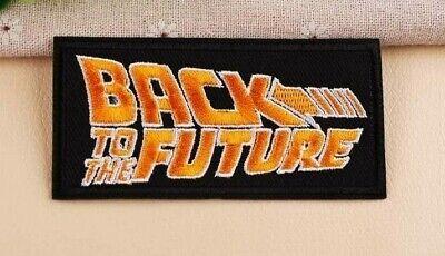 "BACK TO THE FUTURE Name/Text 4"" EMBROIDERED Iron/Sew On Patch comprar usado  Enviando para Brazil"