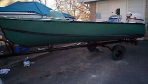 15' Princecraft aluminum boat,and trailer