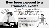 Have you experienced a traumatic event?
