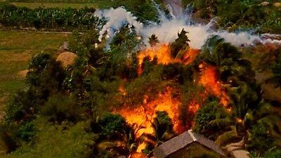 Vietnam War U.S. Napalm Strike Viet Cong Village 1968 8.5x11 Rare Photo