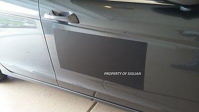 24x12 Blank Black Vinyl Car Magnet Sign 30 Mil Thick - Machine Cut 1 Sheet.