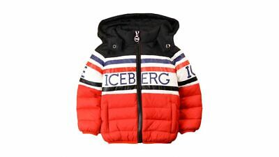 ICEBERG kids zip-up Padded Logo Puffer Jacket 24M/92CM *NEW with TAGS* CLEARANCE