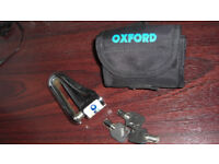 OXFORD QUARTZ MOTORCYCLE/SCOOTER DISC LOCK