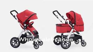 New I.Believe Sports 4 Wheel Pram Stroller In Red Sports! Bulimba Brisbane South East Preview