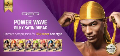 Buy1 Get1 50% Off) RED by KISS Power Wave Silky Satin Durag Doo Rag 360 Cap