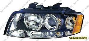 Head Light Driver Side Halogen High Quality Audi A4 2002-2005