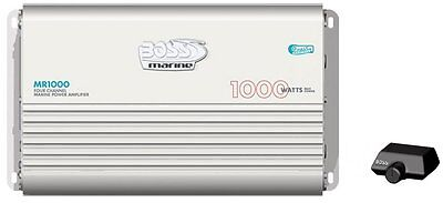NEW BOSS AUDIO MR1000 4 Channel 1000W Marine Amplifier on Rummage
