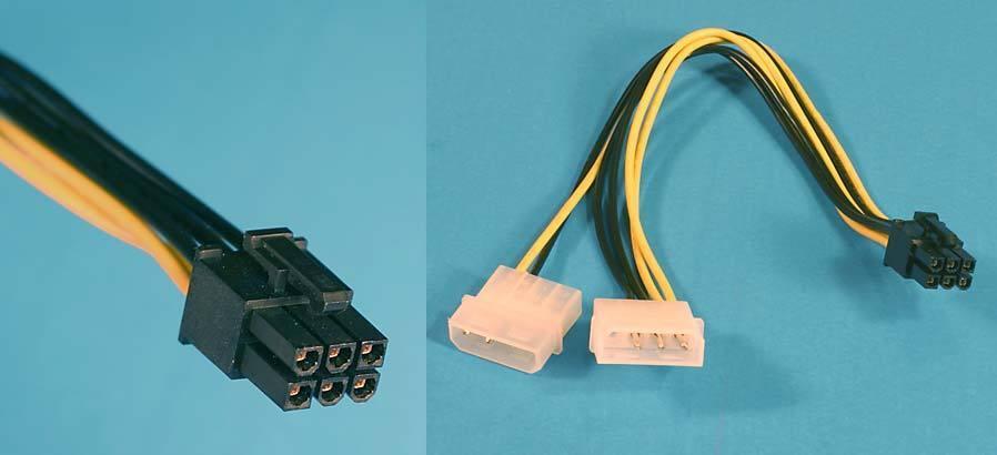 Nvidia Hp Dell Quadro Fx 5600 5500 4700 4500 4400 3800 3450 Power Adapter Cable