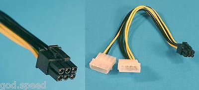 Nvidia Hp Pny Quadro Fx 5800 4800 4600 4000 3700 3500 3400 Power Adapter Cable