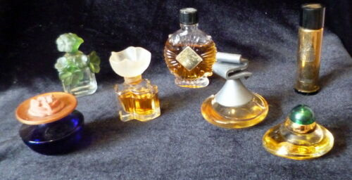 Lot of 7 Vintage Miniature FRENCH Perfume Parfum Bottles Fragrance Bottles