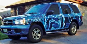 2002 Nissan Pathfinder wrapped SUV, Crossover