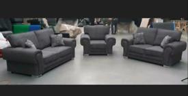 Newton 3 + 2 + 1 Seater Sofas in Lisbon Grey