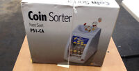 Electronic coin sorter with rolls still in box