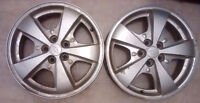 Two chevy alloy rims