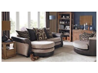 brand new chaise sofa and swivel chair cost £899£399 free delivery 2381CEC