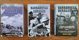 3 Book Set of Barbarossa Derailed by Glantz - WWII Russian Front