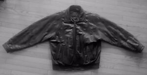 """Moores"" leather bomber jacket"
