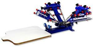 Micro-adjust 4 Color 1 Station Silk Screen Printing Machine/Press Printer 006522