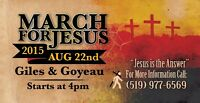 March for Jesus celebration event 2015