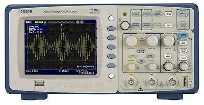 Bk Precision 2530b Digital Storage Oscilloscope 2 Channels 25 Mhz 500 Msas