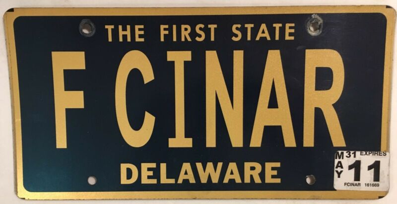 Delaware vanity FOR SINNER CINAR license plate Cinara Sinar Turkey Sin Religion