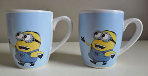 Minions Despicable Me Ceramic Coffee Mugs Cups Set of Two