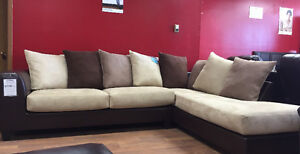 Brand new 2 pc fabric sectional $1298 DO NOT PAY FOR 12 MONTHS!!