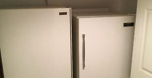 Old freezer and old working refrigerator