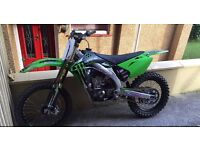 Kxf450 2008 , recent work carried out